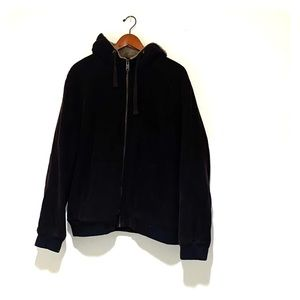 Brown Corduroy Jacket with Hood